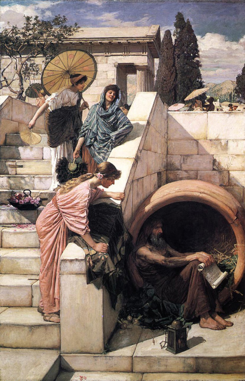 Diogenes by John William Waterhouse, 1882.