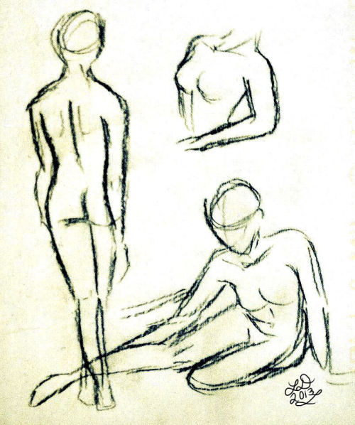 Figure Studies Graphite pencil