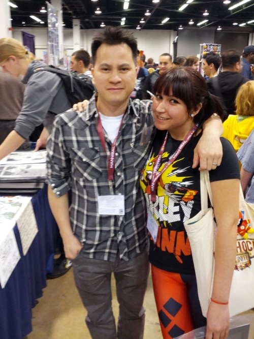punkzelda3:  94/365 4/4/2013 Dustin Nguyen and I at Wondercon 2013. I love this guy! He's a great artist and super sweet, and I'm glad to call him my buddy :)  i did not notice then how totally awesome your pants were!