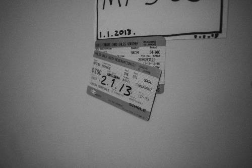 mywall365:  2.1.13 train tickets. sometimes i miss home, it's nice to remind myself it's not too difficult to get back there.  Home misses you. x