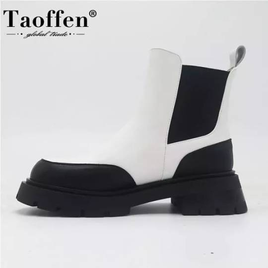 US $53.17  59%OFF | Taoffen Real Leather #Ankle #Boots For #Women #Fashion Platform #Winter #Shoes Woman Short #Boot Office #Lady #Footwear #Size 34-41 #aliexpress #ankle#boots#women#fashion#winter#shoes#boot#lady#footwear#size#aliexpress