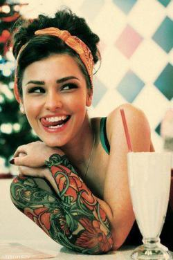 inkedgirlsblog:  Yes she can