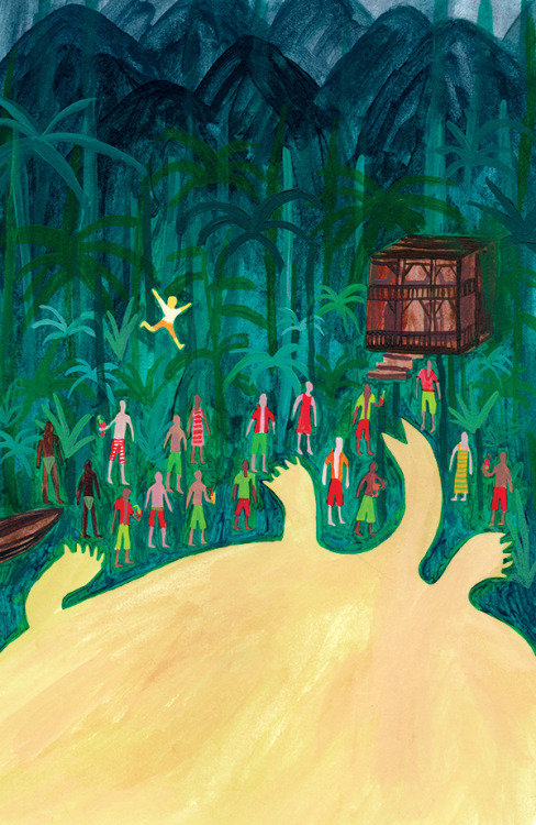 carnetimaginaire:  Claire Burns, Jungle Scene