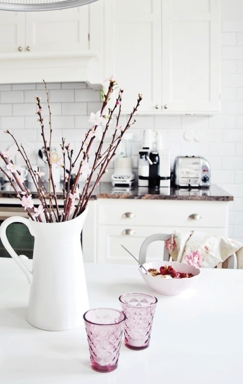 spring preview: branches in the kitchen (via Arianna Belle Organized Interiors)