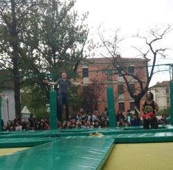 iwillsaycrossfire:  Conor jumping and laughing on trampoline in Nonantola, Modena (Italy) 20,04,2013.