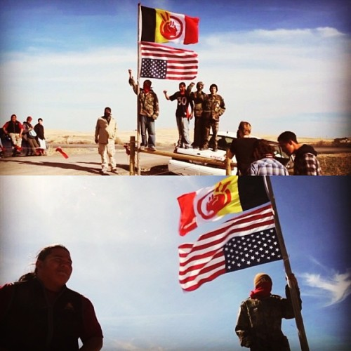 sinkingginhisgrace:  I love this. #StandUP for #indigenous rights. #AIM #pineridge #lakota #firstnations