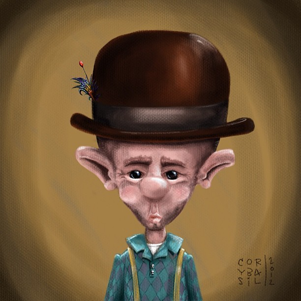 Meet Mac, he got a brand new hat. #corybasilart