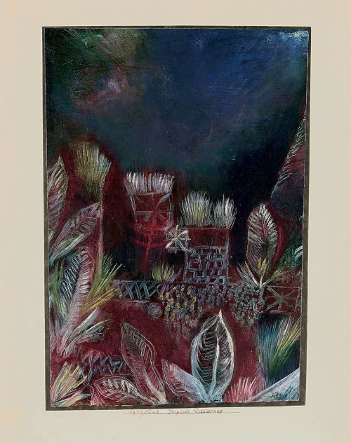 german-expressionists:  Paul Klee, Tropische Dämmerung (Tropical Twilight), 1921