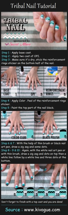 lovelyaiden:  Here's an idea for your nails!- Tribal nail designs :) It's so easy and it looks so good in the end!!! Give it a try?   -LovelyAiden
