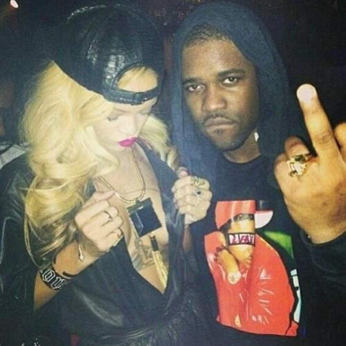 Rihanna at the club in NYC last night