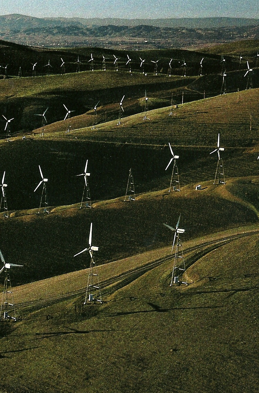 California wind turbines at Altamont Pass National Geographic | October 1990