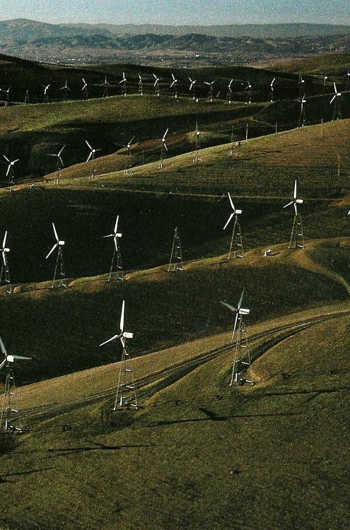 vintagenatgeographic:  California wind turbines at Altamont Pass National Geographic | October 1990