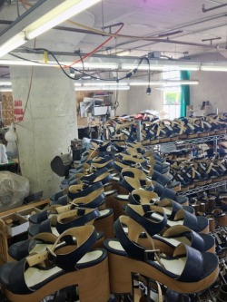 americanapparel:  The Wooden Heel Sandal, Made in Downtown Los Angeles by American Apparel. Spring 2013.  *****