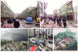 "China destroys the ancient Buddhist symbol of Lhasa City in Tibet Chinese authorities are planning to destroy the ancient Buddhist capital of Lhasa, and replace it with a tourist city similar to Lijiang. ""Shangri-La"" in Yunnan Province. Several large-scale construction projects are underway for a number of shopping malls around the Buddhist holy temple as well as underground parking at Barkhor Street. Ignoring both religious freedom and the outcry of the Tibetan people, the Chinese authorities have begun demolishing the ancient capital of Lhasa, including one of the most important Buddhist sites of the city, Tibet's holiest Jokhang Temple.Because Lhasa itself wasn't enough of an attraction? I really feel sick about this. Lhasa was on my must see before I die list and now its going to be gone."