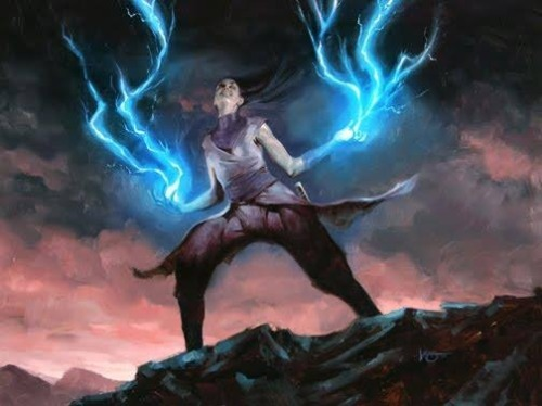 Nightsister wielding Force Lightning