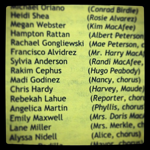 Cast list…#byebyebirdy #RHS #Hugo!Hugo!Hugo! We turned UP! Out here in Germany! (at Ramstein High School)