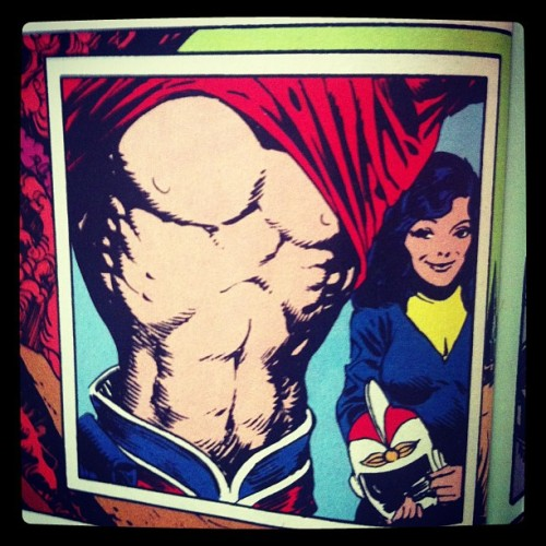 Alanna loves Adam Strange's abs. Get it girl. #yeahhhhswampthing #MysteriesInSpace