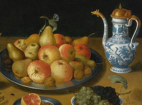 Lucas Luce Still Life with Fruit and Pitcher, detail 1624