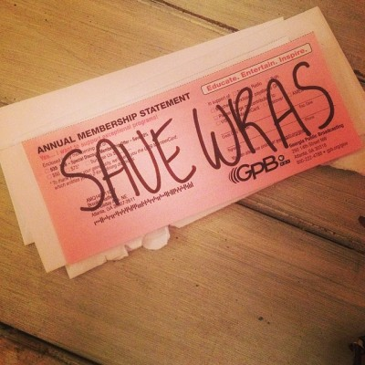 brookehatfield:  Idea stolen from @thedowda. And before #savewras I probably would have thrown some change their way, too.