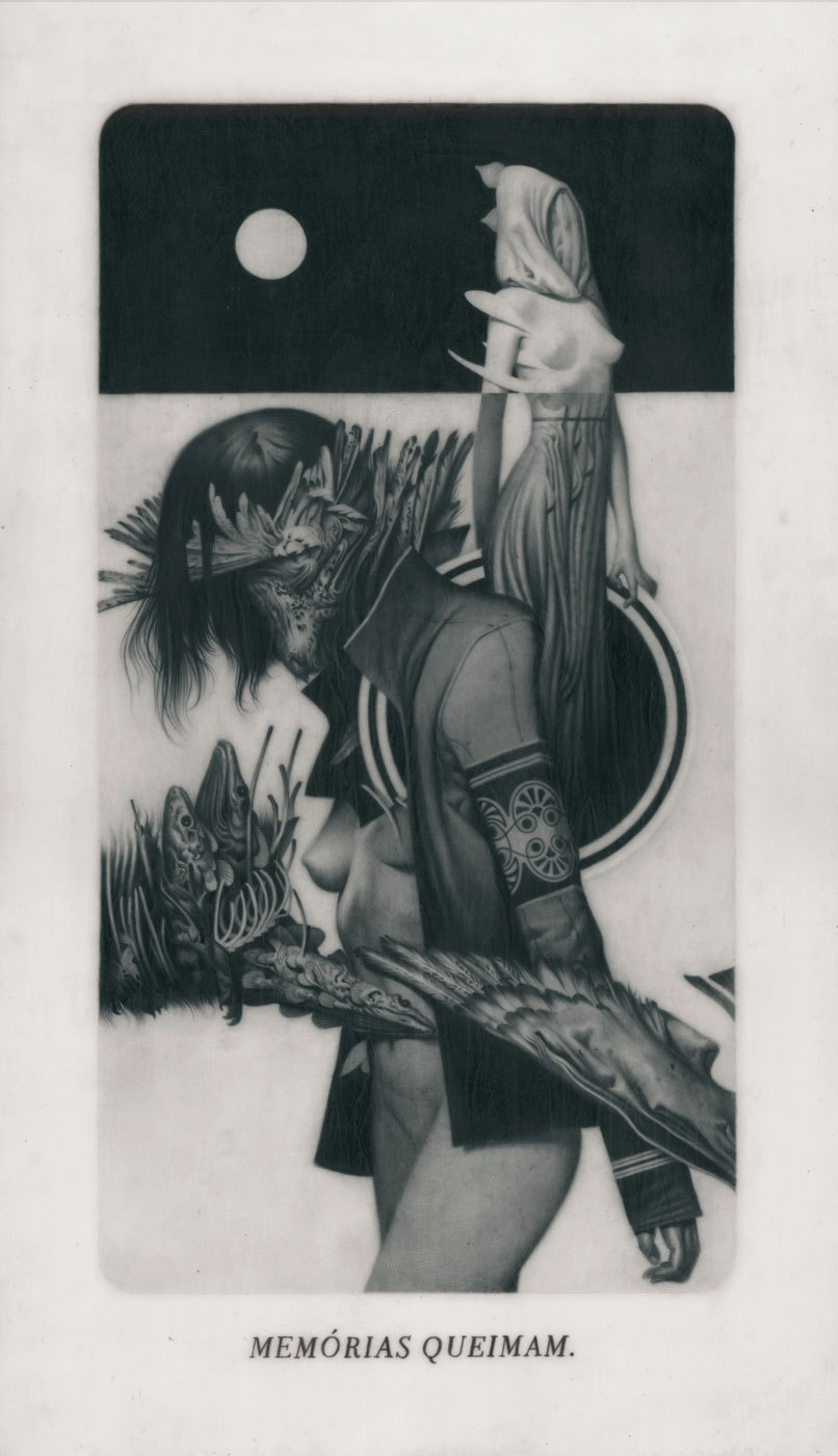 "feralkid:  My three pieces for the ""Lined in Lead II"" graphite groupshow that took place last month @ Gallery Nucleus. There's still a lot of work available from all the great artists, for inquiries: http://www.gallerynucleus.com/gallery/pieces/384Also, I have a new print out through Nucleus:http://www.gallerynucleus.com/home/detail/15556"