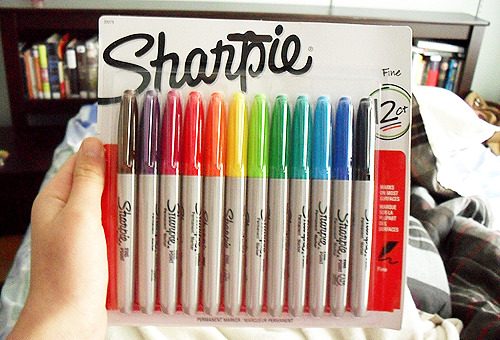 my mom went and bought the exact same pack of sharpies i already have wow cool mom :)))))))