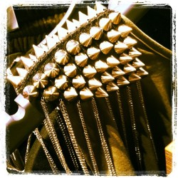 I guess nobody will lean on my shoulder if I wear these studded spikes! #fashion #studs #style #spike #shopping #metal #bling #silver  (at Cool Cat)