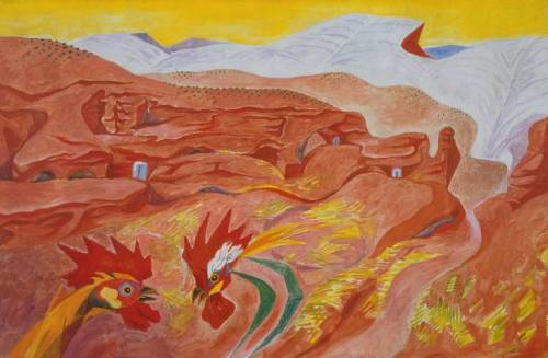 artmastered:  Andre Masson, 1935, Ibdes in Aragon