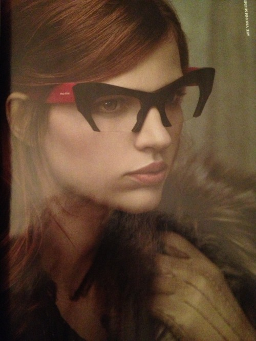 the-haute-spot:  Bette Frank for Miu Miu eyewear
