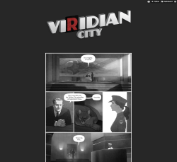 "Viridian City, a beautiful ""Pokémon noir"" comic."