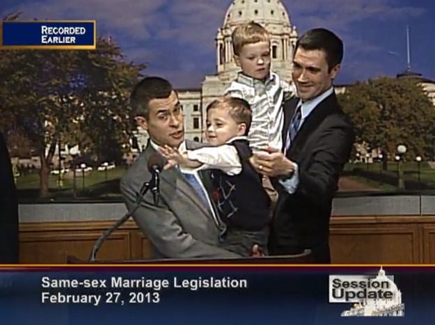 These Dads from Minnesota Wanted To Give A Speech On Marriage Equality, And What They Got Instead Was Hilarious. Check it out!