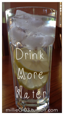 "millieg-03:  ""Drink more water"" There are many benefits of drinking lots of water daily. They say we should drink 8 glasses a day (which equates to just over 2 litres). Sometimes we can confuse thirst for hunger. Or we may find that we get bored easily if our hands & mouth aren't busy eating. Dehydration can cause headaches, and nobody feels like being active when they are feeling under the weather. We live in a society that constantly drinks exorbitant amounts of calories, in tea, coffee, juice, cordial, soft drink etc. Our only need for drinking is hydration through water consumption, we only crave the other drinks because of the addictive nature if the high sugar content. If you're exercising or trying to lose weight, you will be able to get the best out of your body only if you drink enough water every day. Add a few slices of fresh lemon if you don't like the taste of it. Moral to the story? Drink more water. Enjoy your 8 glasses today. millieG. xox (n.b. not qualified in nutrition etc, just writing what I've learned & what works for me)"
