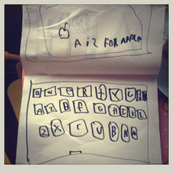 a is for apple. (made this in kindergarten)