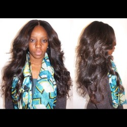 My client Julie — Full weave w/ lace closure. 4.5 bundles of Brazilian hair #hairstylist #sewin #weave #laceclosure #brazilianhair #nigerian