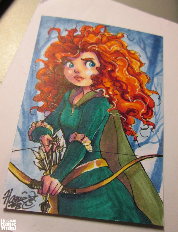 Merida sketch card done in between work. Sometimes when I get digital art fatigue I feel like I need to bust out the markers.
