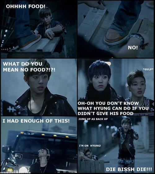 honeymoonlover:  Daehyun the Big FOOD Monster … XD