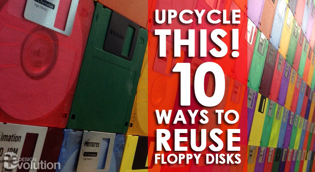 "redesignrevolution:  Upcycle This! 10 Ways to Reuse Floppy Disks for Earth Day  As we continue to celebrate Earth Day, check out this list of 10 ways you can re-purpose all those 3.5"" floppy disks you have in storage. And by ""you,"" I mean people over the age of 30 who actually used the things. Our favorites? Well, there's this great bag made out of black floppy disks (though I'm sure you can use whatever colors you want), the floppy disk converted to a USB drive, and the floppy disks as wall clock. What ideas might you have for recycling old floppy disks into some sort of DIY, crafty goodness?"