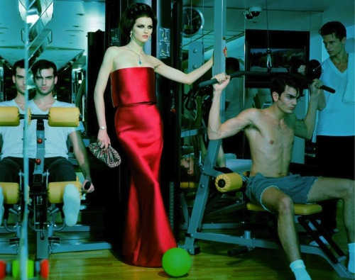 modelta:  Vogue Italia: March 2013 Christopher Michaut, Katlin Aas, Timothée Elkaïm & Alex Treutel by Miles Aldridge