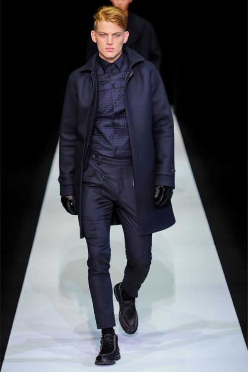 impsychotic:  Emporio Armani F/W 2013 Milan  so i happen to have a thing for sebastian on the runway.