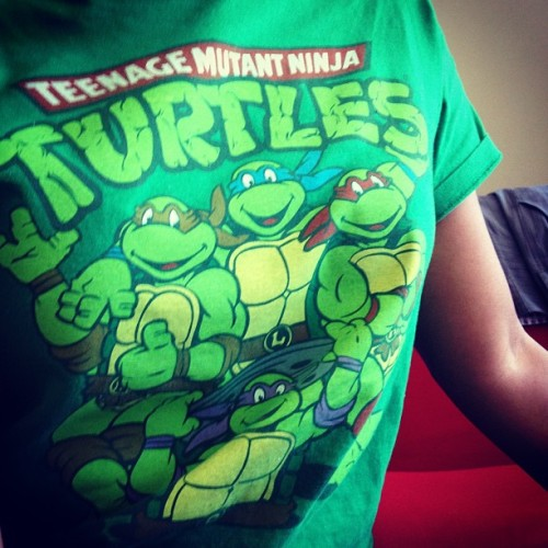 One of the faves from my cartoon t-shirt collection. #YallJealous #tmnt #geek