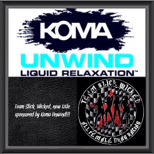 So excited to share that Team #slickwicked is now sponsored by @komaunwind!!! So thankful I race on this team!!! @slickwicked1 @trisha_wilbanks #allfemaleraceteam #dragster #dragracer #motorcycle #kawasaki #suzuki #chevytruck #girlpower #nhra #nascar #bikerchic #komaunwind #bebevco #chillax