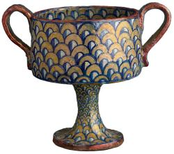 centuriespast:  Stemmed Cup with Two HandlesItaly (Deruta), sixteenth century The Morgan Library
