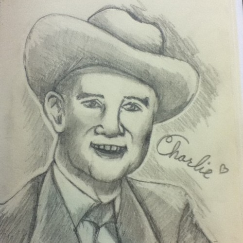 Today at the laundromat I drew Charlie Monroe! #monroebrothers #possumlyfe