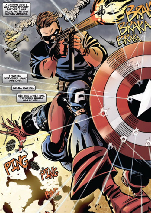 comicbookartwork:  Captain America and Bucky Barnes