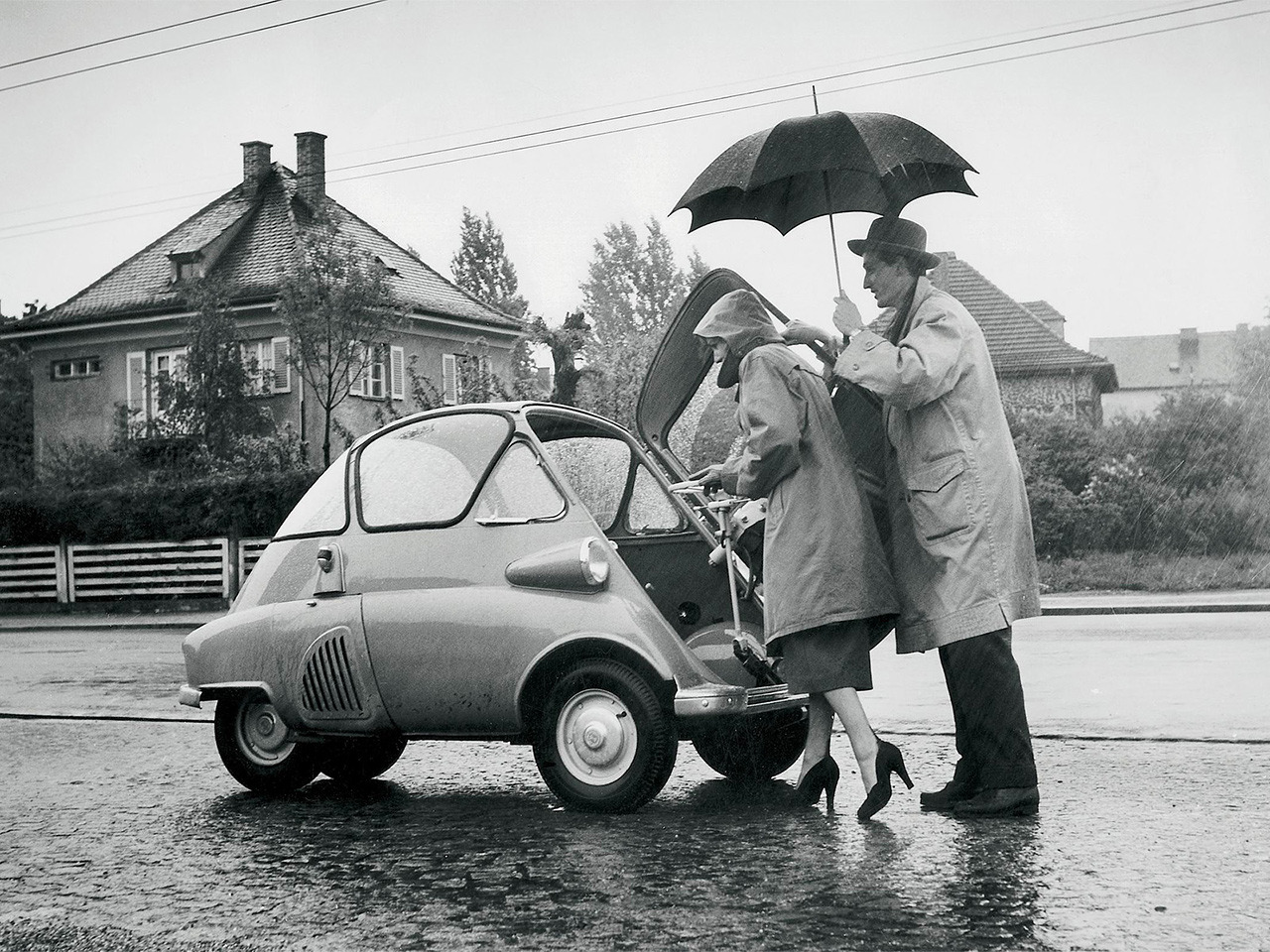 ckck:  The BMW Isetta, produced 1955-1962.