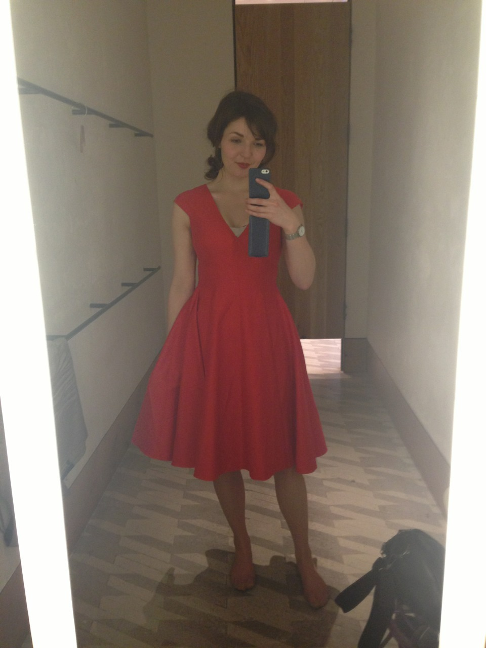 Lusting over this gorgeous red dress from Anthropologie… Really, really can't afford it… Would be so perfect for our engagement shoot in June!