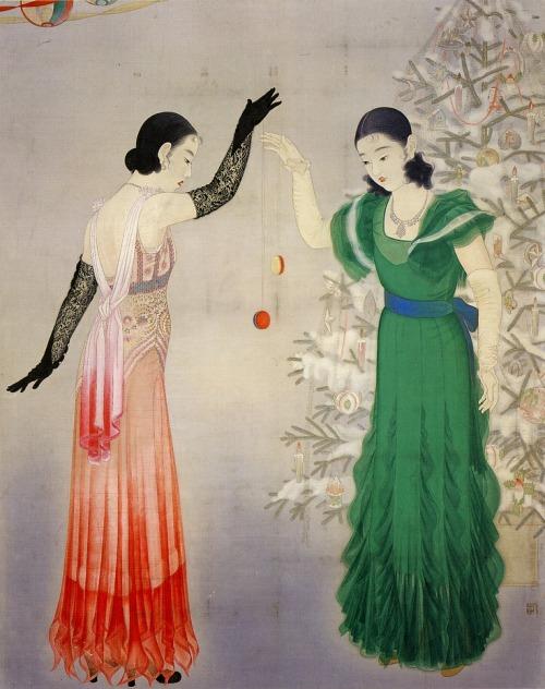 taishou-kun:   Enomoto Chikatoshi 榎本 千花俊 (1898–1973) Playing Yo-Yo - 1933