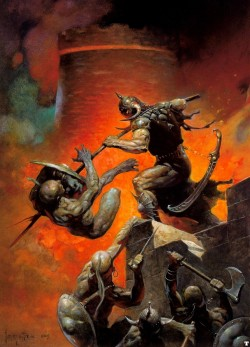 bearded-rage:  Illus. Frank Frazetta