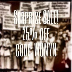 Surprise one day sale in light of this fierce day in Herstory. Coupon code: WOMYN for 25% off your purchase today! #aliifuerza #internationalwomensday #womyn #vivalamujer www.etsy.com/shop/AliiFuerza