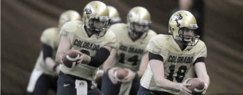 Colorado football coach Mike MacIntyre is considering adding yet another quarterback to the swollen numbers he already has at the position. Nelson Fishback, a 6-foot-2, 215-pound, product of Durham, Calif., visited CU last week as the Buffs wrapped up the first half of spring football and could join the program this summer. Fishback played last season at Butte College in California, where he helped lead his team to a 10-1 record. Fishback confirmed his visit on his Twitter account, which features a picture of him standing on a bridge above Boulder Creek.