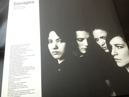 The new Savages record is mine. So far, I love it.